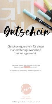 Gutschein Lettering Workshop