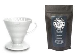 Hario V60 Keramikfilter & Kaffee im Set