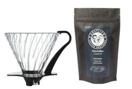 V60 Glasfilter & Kaffee im Set