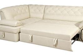 Чистка дополнительного выдвижного КОЖАНОГО спального места дивана.