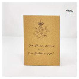 """Grußkarte m. Umschlag """"Mistletoe Kisses"""" Craftpaper"""