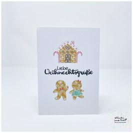 """Grußkarte m. Umschlag """"Liebe Weihnachtsgrüße"""""""