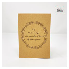 """Grußkarte m. Umschlag """"It´s the most wonderful time of the year"""" Craftpaper"""