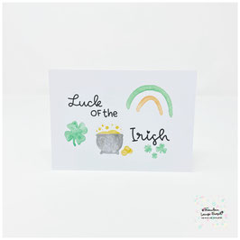 "Postkarte -Irish Heart- ""Luck of the Irish"""