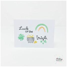 """Postkarte -Irish Heart- """"Luck of the Irish"""""""