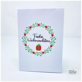 """Grußkarte m. Umschlag """"Frohe Weihnachten"""""""