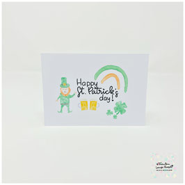 "Postkarte -Irish Heart- ""Happy St. Patrick's Day"""