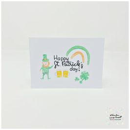 "Postkarte -Irish Heart- ""Happy St. Patrick's Day"""