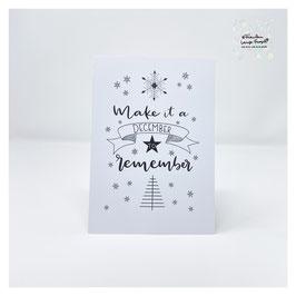 """Grußkarte m. Umschlag """"Make it a December to remember"""" Christmasletters"""