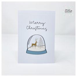 "Grußkarte m. Umschlag ""Merry Christmas"" Holiday Season"