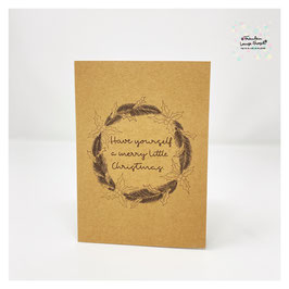 """Grußkarte m. Umschlag """"Have yourself a merry little Christmas"""" Craftpaper"""