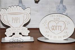 Holz Pokal Personalisiert
