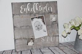 Vintage Stil Enkelkinder Foto Holzschild