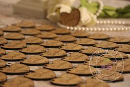 Hochzeitsherzen, Tischdeko