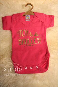Body Pink - Schrift Gold - ich bi da brüller