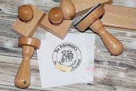 Strichmännchen Familien Stempel