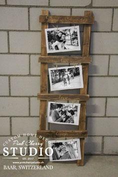 Rustikale Holz Foto-Leiter