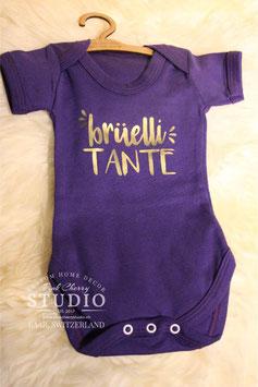 Body Violet- Schrift Gold - brüelli tante