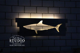 LED Hai aus Palettenholz
