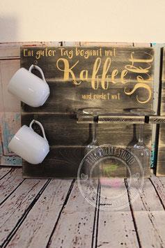 Tassen und Glas Halter für Kaffee, Wein/Sekt oder Bier - Handgemacht