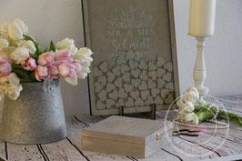 Gästebuch Alternative Bilderrahmen mit Holz herzen