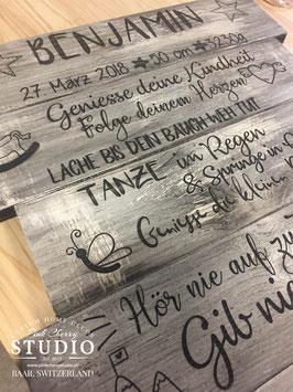 Geh deinen Weg - Shabby Holz Schild - personalisiert