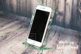 Smartphone Halter aus Acryl - Graviert