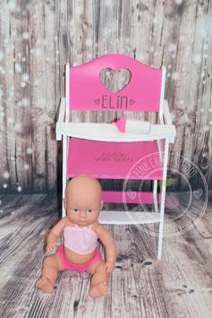 Puppenhochstuhl Pink