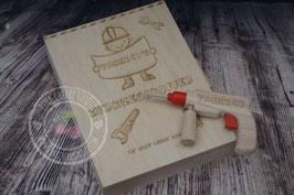 Holz Werkzeugkoffer - Graviert