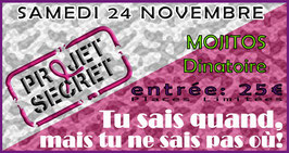 Place PROJET SECRET 24 novembre 2018