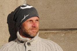 Beanie Mütze grau mit Anker