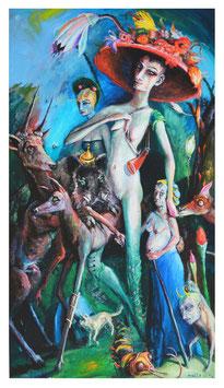Diana und Gefolge verlassen den Wald