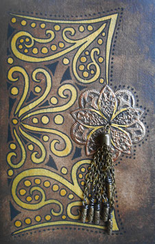 Carnet de note - Carnet de voyage  Une fleur et des arabesques