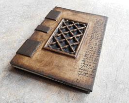 Carnet de voyage  - Grimoire  Moucharabieh - Reliure copte