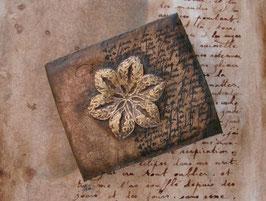 Carnet d'artiste - Petit carnet  Carnet intime - Petit grimoire à l'étoile - Etoile - Calligraphie