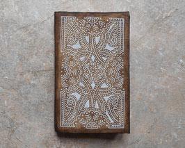 Carnet d'artiste - Carnet de voyage Grimoire - 4 fleurs ethniques