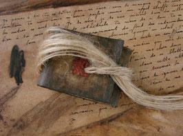 Carnet d'artiste - Petit carnet   Carnet précieux - Carnet unique  Petit grimoire à l'estampe rouge
