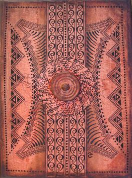 Tableau Calligrapgie - la porte du Diwan - Orange