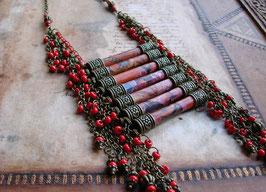 Collier plastron - Collier ethnique  - A la femme des hauts plateaux