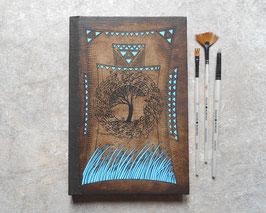Cahier pour le dessin ou l'aquarelle Cahier aux herbes bleues