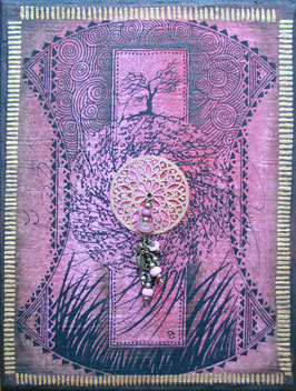 Tableau - la porte du Diwan - Rose
