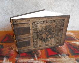 Carnet d'artiste - Livre d'or - Le livre du Diwan - 1er - Reliure copte