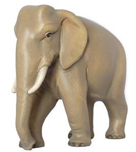 Elefant zu Krippenfiguren  mehrfach gebeizt