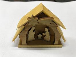 Mini Krippe aus Holz, das ideale Mitbringsel