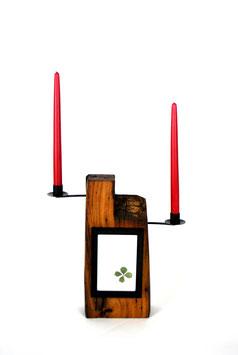 Kerzenständer mit Bilderrahmen