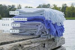 Marokkanische Badetücher in Blautönen