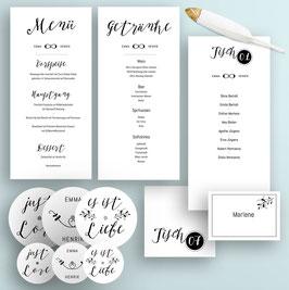 Boho Hochzeit Tischdeko-Set Druckvorlagen