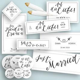 Boho Hochzeitsdeko Druckvorlagen