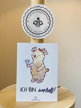 """Wunderschöne kleine Seelenfreuden Premium-Karten in DIN A7   """"Ich bin wertvoll!"""""""