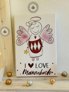 Wunderschöne Fotoleinwand I love Mannebach